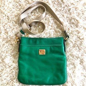 Ralph Lauren Kelly Green leather crossbody bag